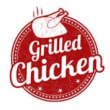 Grilled chicken stamp Royalty Free Stock Photography