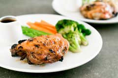 Grilled chicken steak. With vegetable Stock Images