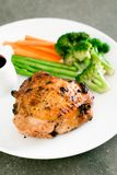 Grilled chicken steak. With vegetable Royalty Free Stock Images