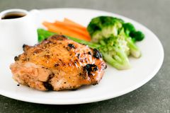 Grilled chicken steak. With vegetable Stock Photography