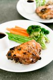 Grilled chicken steak. With vegetable Stock Image