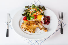 Grilled chicken steak Royalty Free Stock Images