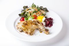 Grilled chicken steak western food style Royalty Free Stock Photos