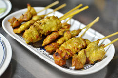 Grilled Chicken stick Stock Photography