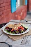 Grilled chicken strip salad Stock Photo