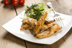 Grilled chicken strips Stock Image