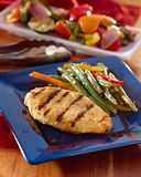 Grilled chicken summer meal. Royalty Free Stock Photography