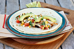 Grilled Chicken Tacos Stock Photo