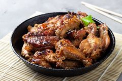 Grilled chicken teriyaki royalty free stock images