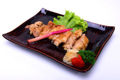 Grilled Chicken Teriyaki , isolated on white background with Cl Stock Photos