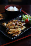 Grilled Chicken teriyaki rice Royalty Free Stock Photo