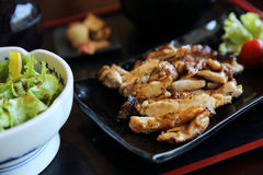 Grilled Chicken teriyaki rice Stock Image