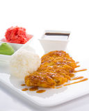 Grilled chicken Teriyaki with steamed rice Stock Images