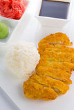 Grilled chicken Teriyaki with steamed rice Royalty Free Stock Photos
