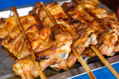 Grilled chicken (Thai style). Hot grilled chicken (Thai style Royalty Free Stock Image
