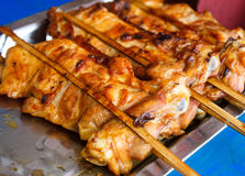 Grilled chicken (Thai style). Hot grilled chicken (Thai style stock images