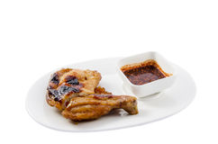 Grilled chicken Thailand. On isolate white background Stock Photography