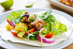 Grilled chicken Tortilla Royalty Free Stock Photos