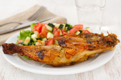 Grilled chicken with vegetable salad Royalty Free Stock Image