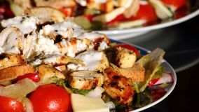 Grilled Chicken and Vegetables Salad stock photo