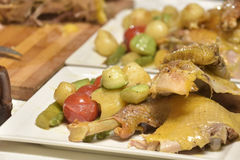 Grilled chicken and vegetables Royalty Free Stock Photography