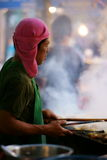 Grilled Chicken Vendor at Wat Saket compound. Stock Image