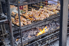 Grilled Chicken. Where to find a variety of grilled chicken on all city - Thousand Nine Hundred mission trip. The Tourism Authority of Thailand Royalty Free Stock Photography
