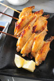 Grilled chicken wing Royalty Free Stock Photo