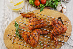Free Grilled Chicken Wings Royalty Free Stock Images - 41154289