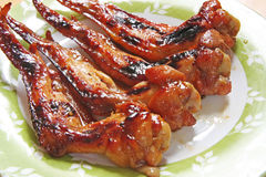 Grilled chicken wings Royalty Free Stock Photos