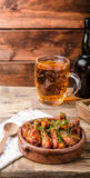 Grilled chicken wings with beer Stock Images