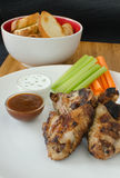 Grilled Chicken wings with dip Stock Photo