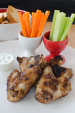 Grilled Chicken wings with dip Royalty Free Stock Photo