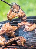 Grilled chicken wings on the grill Royalty Free Stock Photo