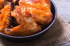 Grilled Chicken Wings Stock Photos