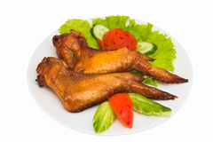 Grilled chicken wings  isolated Stock Image