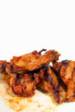 Grilled chicken wings. Isolated on white background Royalty Free Stock Image