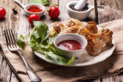 Grilled chicken wings Stock Images