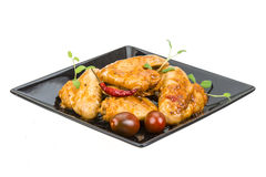 Grilled chicken wings Royalty Free Stock Images