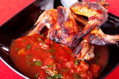 Grilled chicken wings with salsa Royalty Free Stock Photography