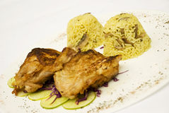Grilled Chicken With Rice Royalty Free Stock Images