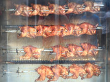 Grilled chickens Royalty Free Stock Photos