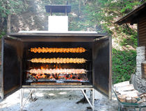 Grilled chickens. Royalty Free Stock Photography