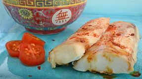 Grilled chinese style fish Royalty Free Stock Image