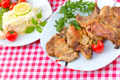 Grilled chops Stock Photos