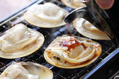 Grilled clams, japanese food Royalty Free Stock Photography