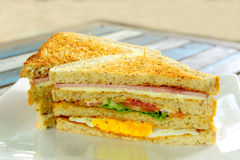 Grilled Club Sandwich Stock Image