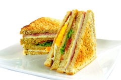 Grilled Club Sandwich Royalty Free Stock Photography