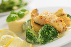 Grilled cod fish Royalty Free Stock Images