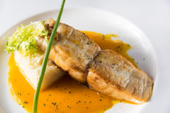 Grilled cod Stock Photo